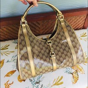 Gucci Gold PVC Handbag